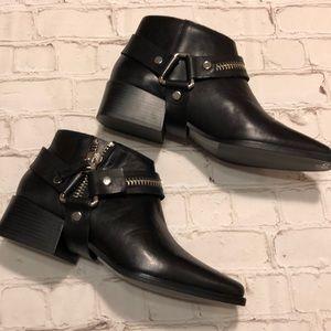 Zara Moto Harness Ankle Booties